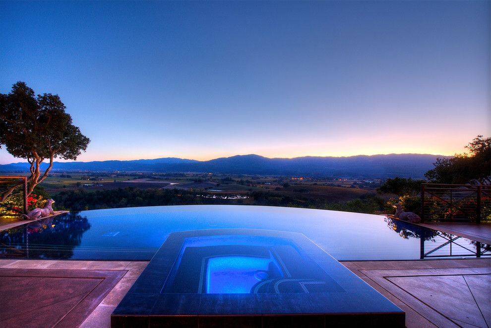 Auberge Du Soleil Rutherford Ca for a Mediterranean Pool with a Metal Railing and Wine Country Masterpiece by Decker Bullock Sotheby's International Realty
