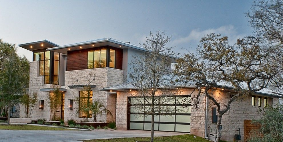 Austin Furniture Depot for a Contemporary Exterior with a Contemporary and Cat Mountain, Greenbelt Homes, Austin Tx by Greenbelt Construction