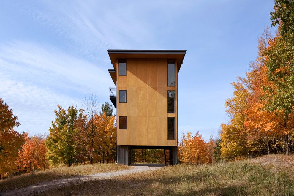 Autumn Glen Apartments for a Contemporary Exterior with a Plywood Siding and Glen Lake Tower by Prentiss Balance Wickline Architects