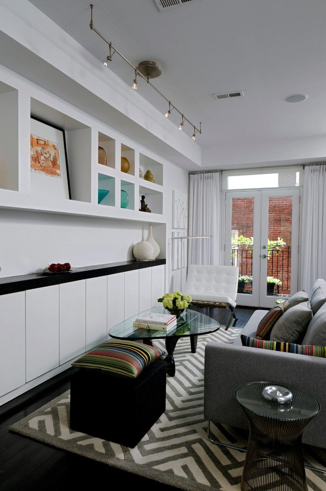Avanti Furniture for a Contemporary Living Room with a White Gray and Black and Irving Street by Patrick Brian Jones Pllc