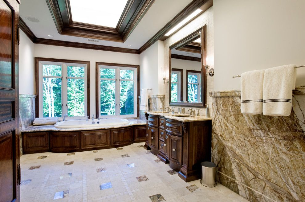 Avanti Furniture for a Traditional Bathroom with a Tile Floor and Pennsylvania Exotic Home by Avanti Marble & Granite Inc.
