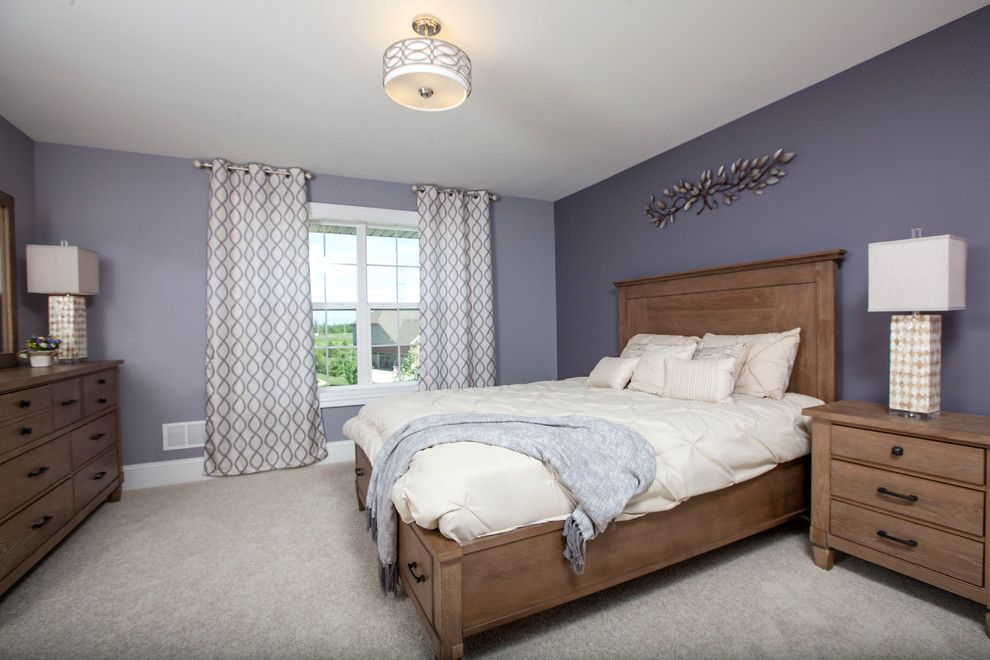 Avanti Furniture for a Traditional Bedroom with a Cased Windows and the Glens of Connemara Model Home by 5th Avenue Construction,Inc
