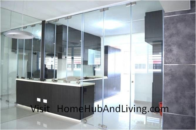 Axia Home Loans for a Contemporary Spaces with a Dry Kitchen Design and Stylish Designed Modern Kitchen (Counter Top Island) with Frameless Door System by Home Hub and Living