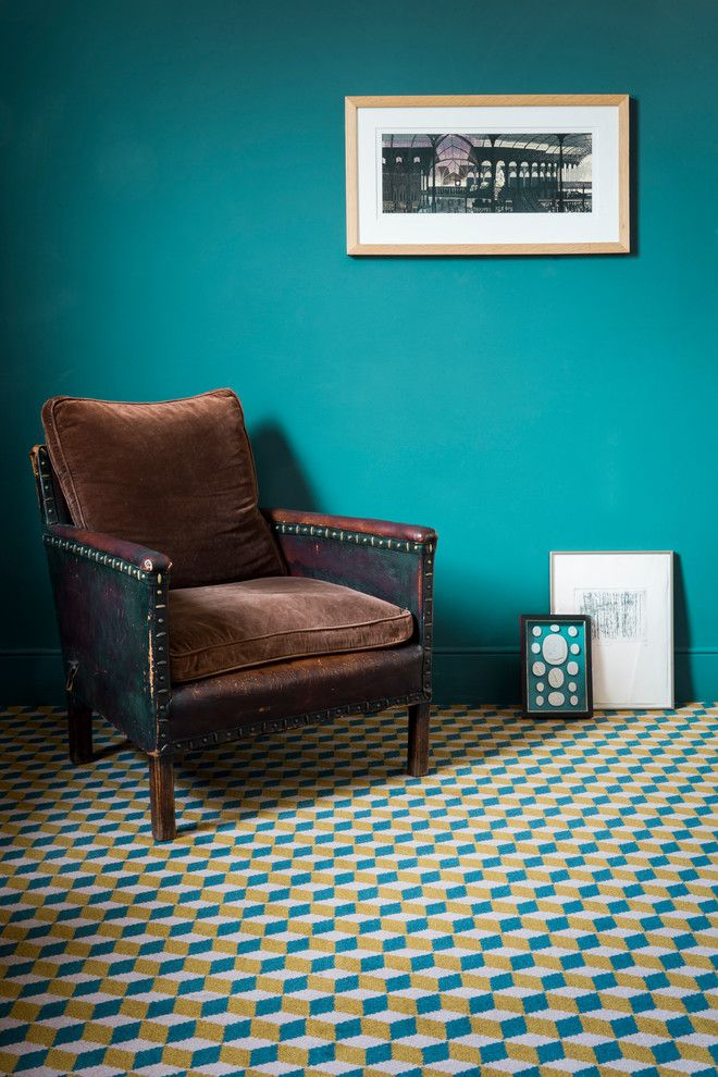 Axminster Carpet for a Contemporary Living Room with a Brown Cushions and Alternative Flooring   Quirky B Cube Hawksmoor by Alternative Flooring