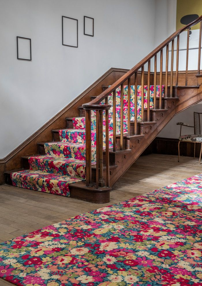 Axminster Carpet for a Eclectic Hall with a Classic Design and Alternative Flooring   Liberty Fabrics Quirky B Flowers of Thorpe Summer Garden by Alternative Flooring