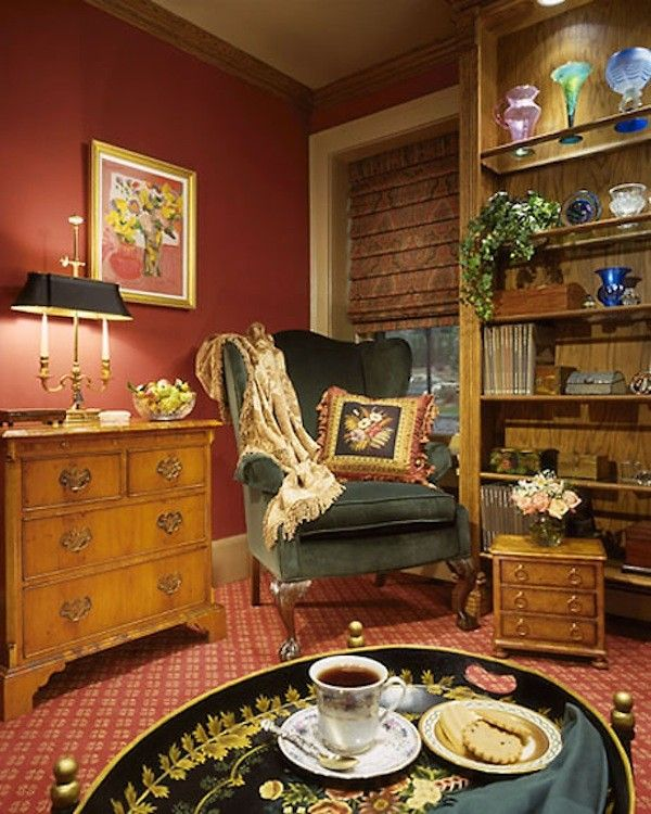 Axminster Carpet for a  Family Room with a Granite Top and Historical Home by Ron Nathan Interior Design Group