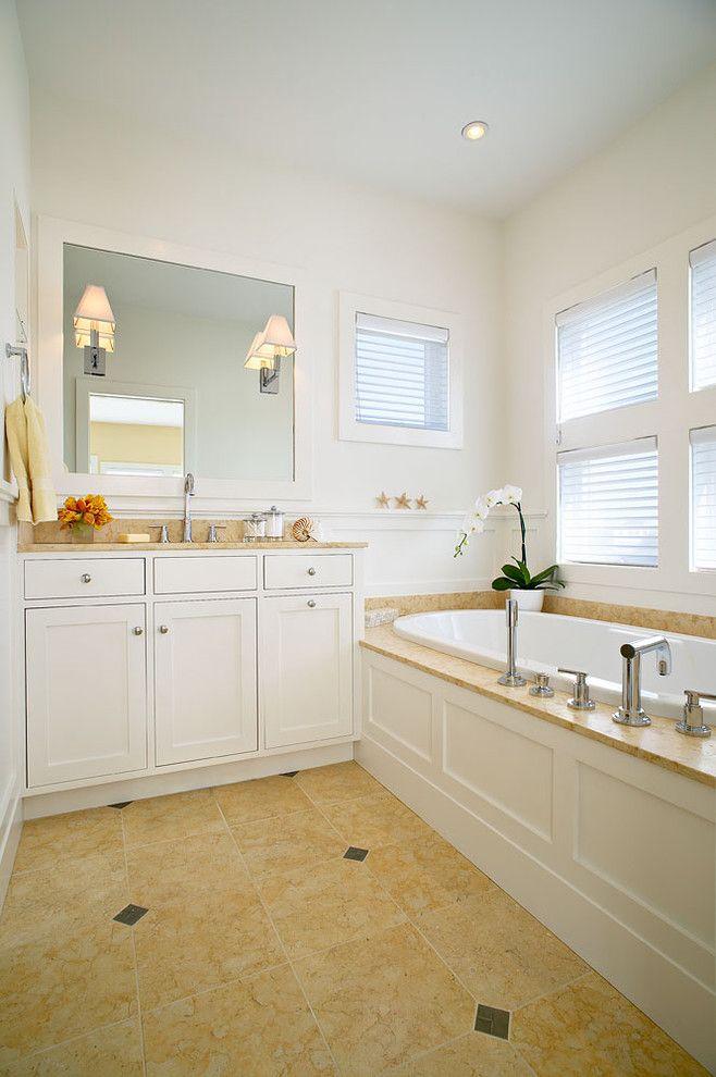 Az Tile Tempe for a Beach Style Bathroom with a Orchid and Amagansett Beach Retreat by Kitchens & Baths, Linda Burkhardt