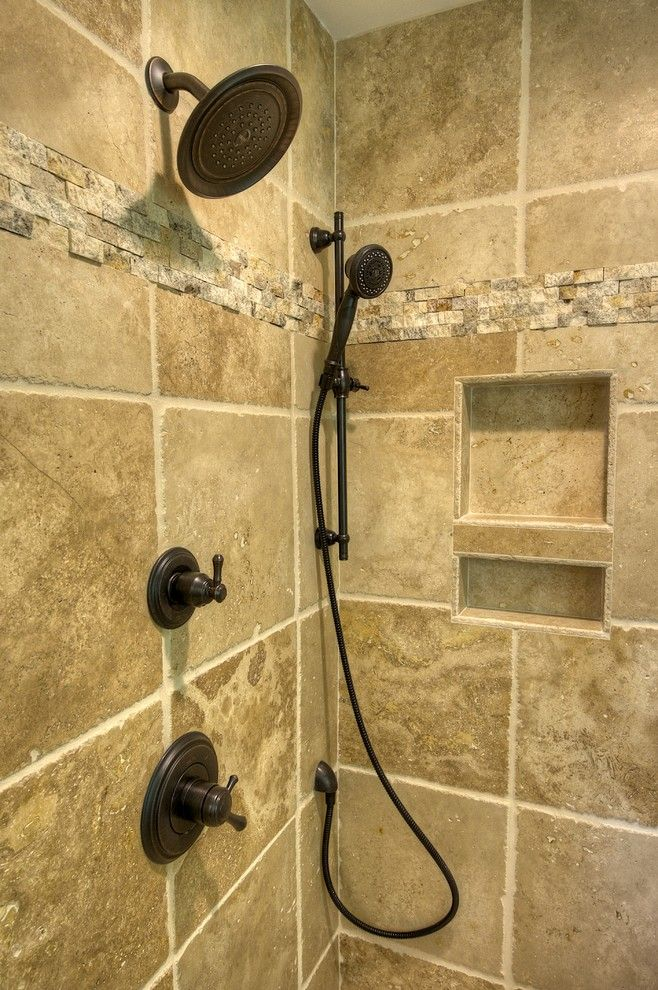 Az Tile Tempe for a Rustic Spaces with a Natural Stone Tile and Bathroom in Fairfax by Oak Hill Building & Remodeling