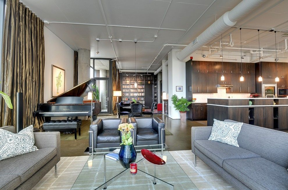 Baby Grand Piano Dimensions For A Modern Living Room With A Exposed  Ductwork And Minneapolis By