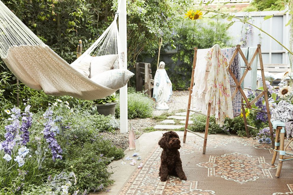 Baby Wiener Dogs for a Shabby Chic Style Patio with a Outdoor Rugs and Beautiful Boho in Venice Beach by Rachel Ashwell Shabby Chic Couture