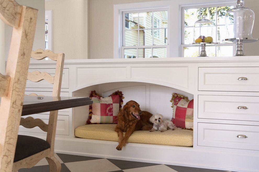 Baby Wiener Dogs for a Traditional Kitchen with a Dog Bed and Dog Bed by Rlh Studio
