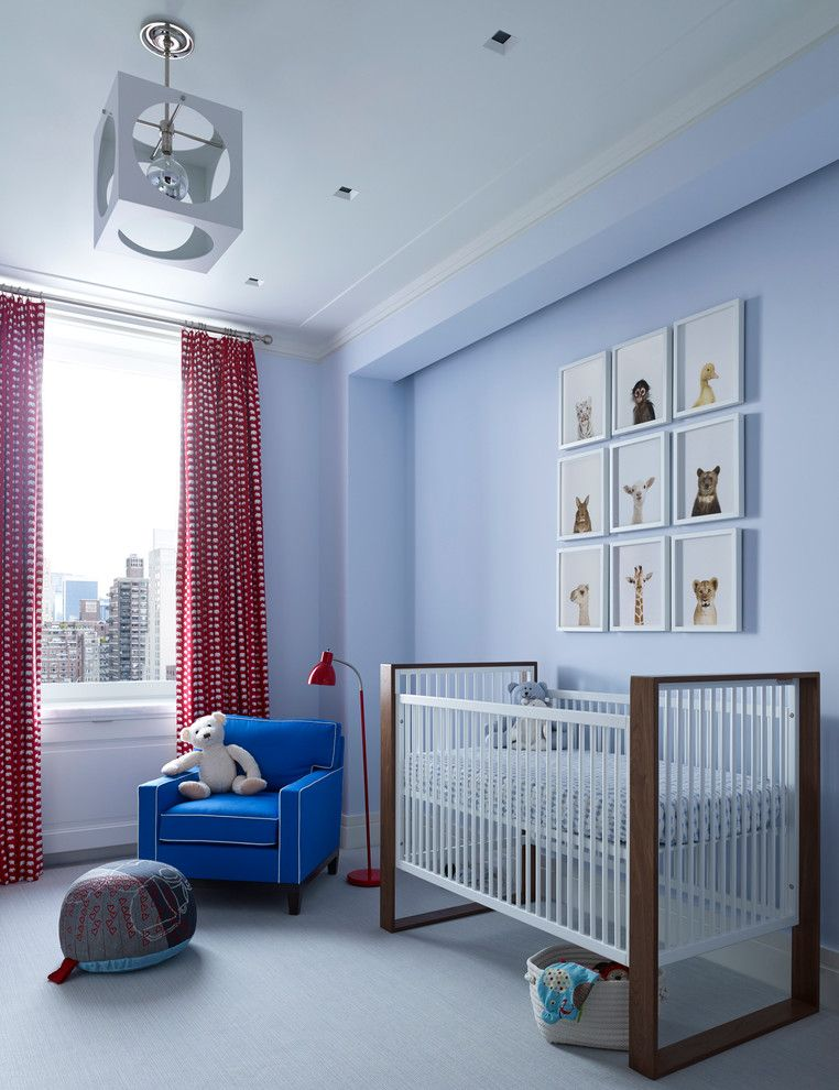 Baby Wiener Dogs for a Transitional Nursery with a Urban and Park Avenue Residence by Douglas C. Wright Architects