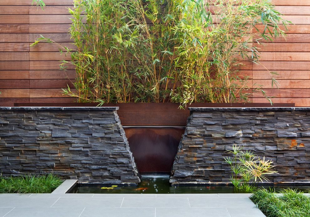 Back Page San Francisco for a Asian Landscape with a Metal Water Feature and San Francisco by Envision Landscape Studio