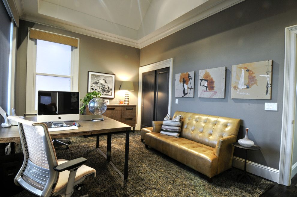 Back Page San Francisco for a Contemporary Home Office with a Accent Tables and San Francisco Residence by Blutter Shiff Design Associates