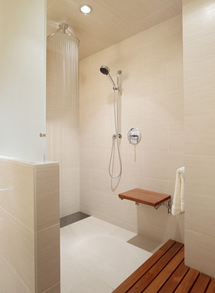 Backpage San Francisco for a Contemporary Bathroom with a Wood Flooring and San Francisco Four Seasons Apartment by Cheng Design