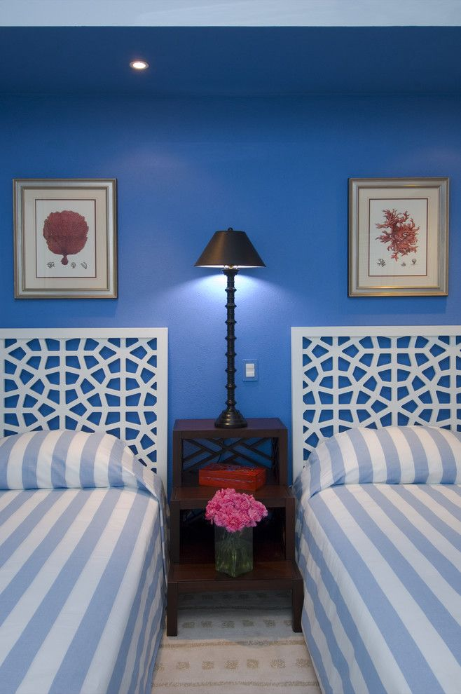 Backpage San Francisco for a Tropical Bedroom with a Fretwork Headboard and Jerry Jacobs Design: Interior Design San Francisco Bay Area by Jerry Jacobs Design, Inc.