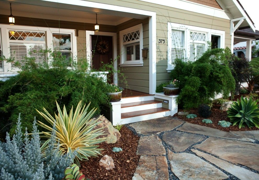 Backpage San Luis Obispo for a Mediterranean Landscape with a Drought Tolerant and Inviting San Luis Obispo Entry by Gardens by Gabriel, Inc.