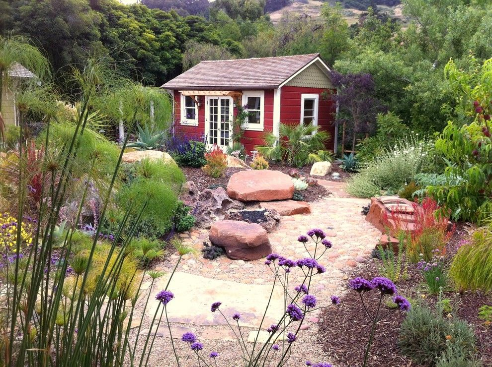 Backpage San Luis Obispo for a Mediterranean Shed with a Boulders and San Luis Obispo Overlook by Gardens by Gabriel, Inc.