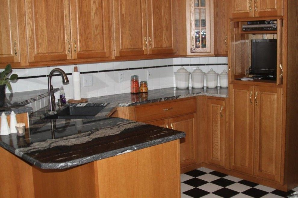 Backpage Wichita Kansas for a Traditional Kitchen with a Cabinetry and Silver Supreme Granite by Creative Surfaces