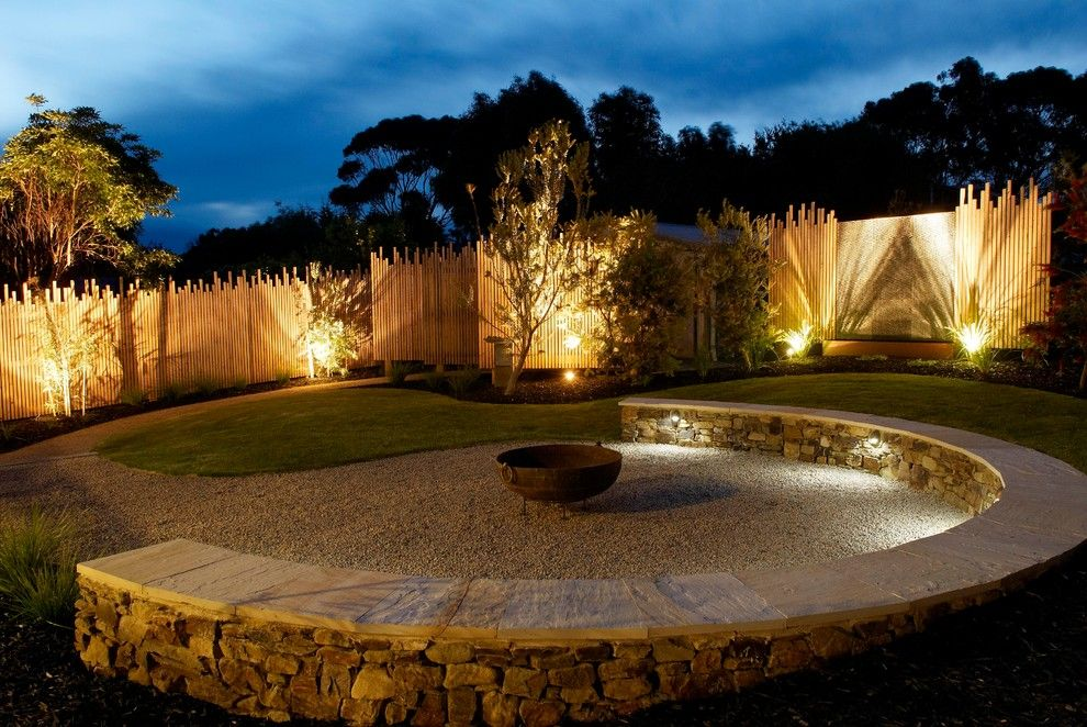 Backyard Bbq Pit for a Beach Style Landscape with a Outdoor Lighting and Beach House Great Ocean Rd by Simpatico Interior Design