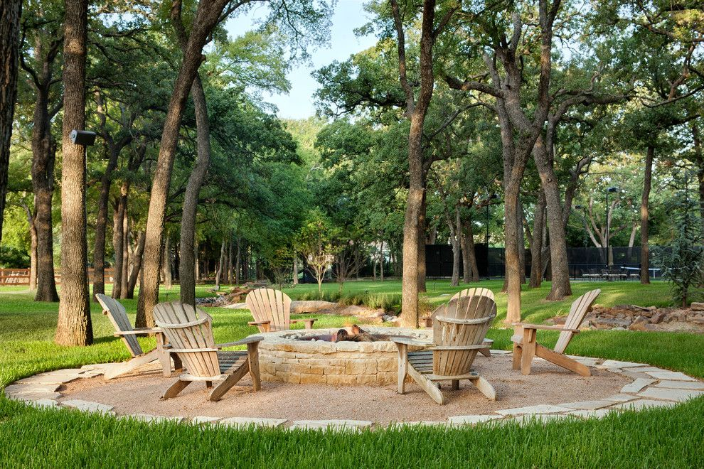 Backyard Bbq Pit for a Traditional Patio with a Fire Pit and Southlake by Jauregui Architect Builder