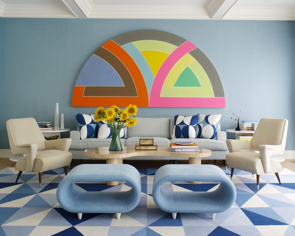 Badcock Home Furniture &more for a Midcentury Living Room with a Geometric Prints and Hamptons Modern by Anthony Baratta Llc