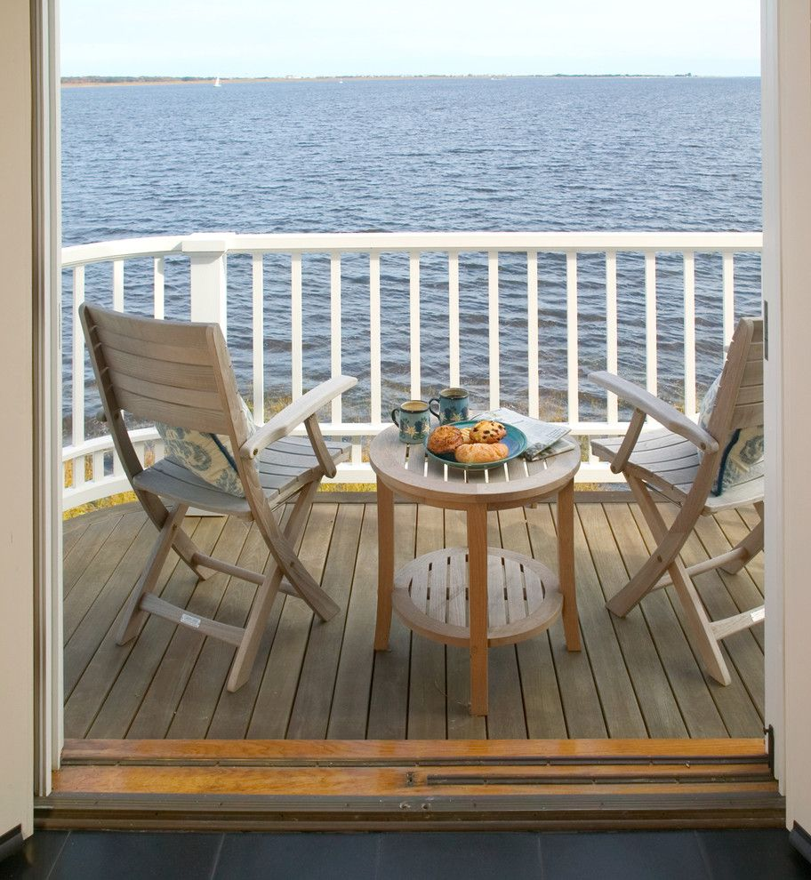 Badcock Home Furniture &more for a Traditional Balcony with a Federal and Newburyport Riverside Home   Balcony by Frank Shirley Architects