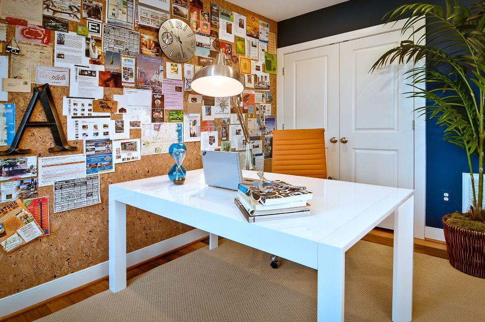 Bagcraft Papercon for a Contemporary Home Office with a Table and Bedroom by the Neighborhoods of Eya