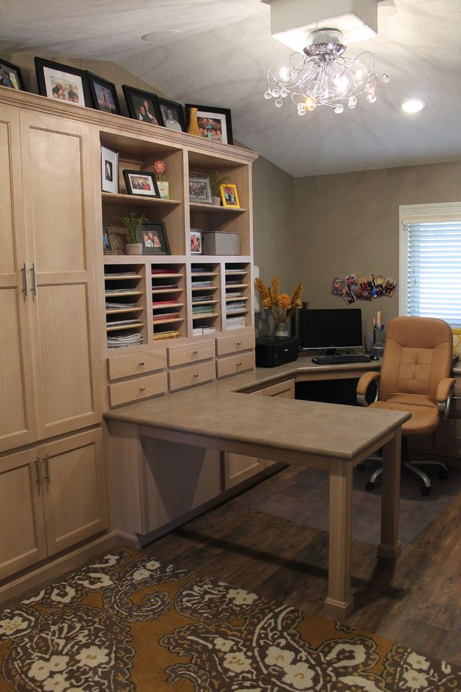 Bagcraft Papercon for a Traditional Home Office with a Home Office and Special Places by Creative Interiors Inc.