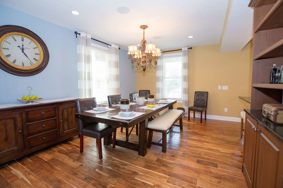 Baileys Furniture for a Transitional Dining Room with a Homestaging to Sell and Bailey Ave by Picket Design