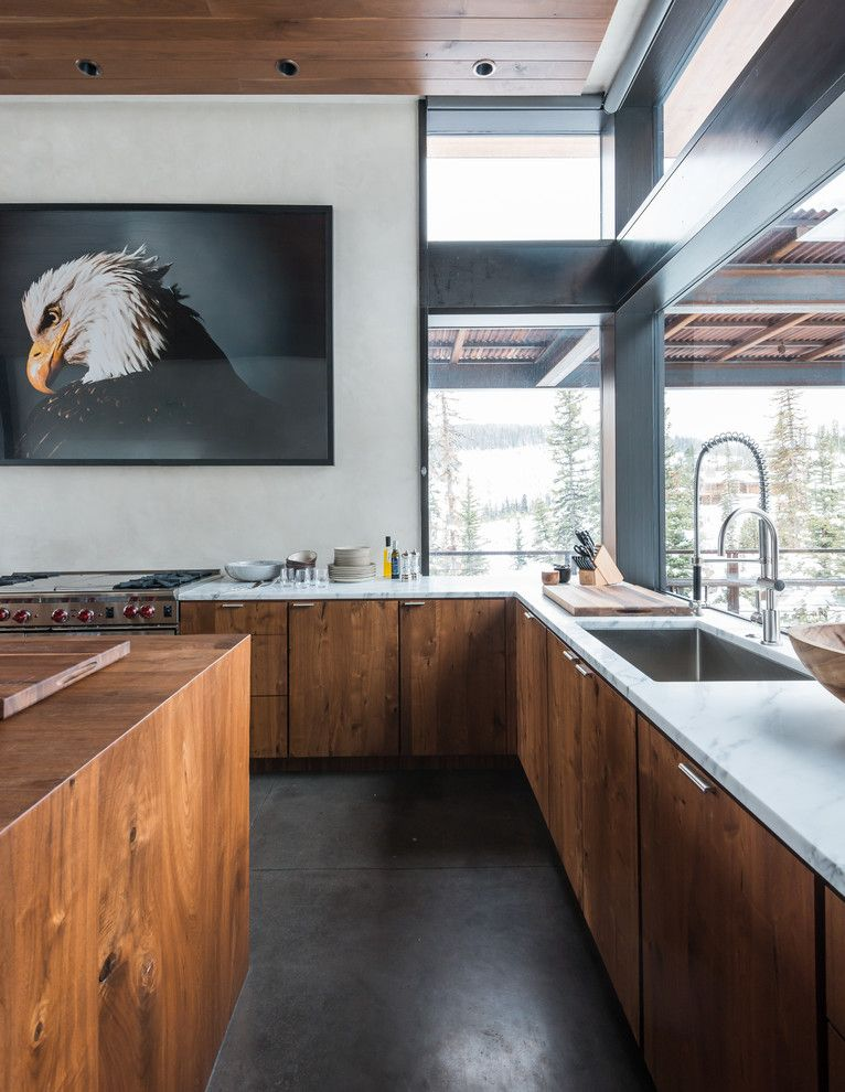 Bald Eagle Wingspan for a Rustic Kitchen with a Wood and Mountain Modern by Pearson Design Group
