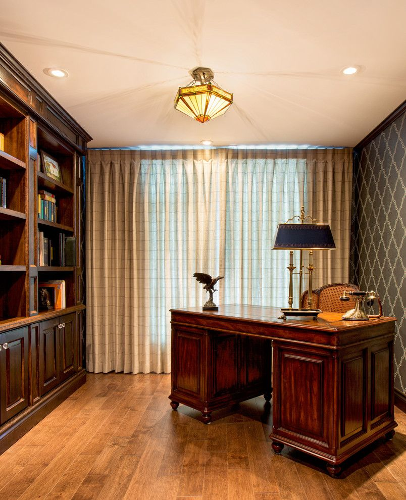Bald Eagle Wingspan for a Traditional Home Office with a European and European Apartment by Cindy Ross Interior Design