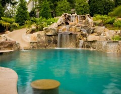 Ballantyne Spa for a Tropical Spaces with a Tanning Ledge and BALLANTYNE TROPICAL OASIS by Coogan's Landscape Design