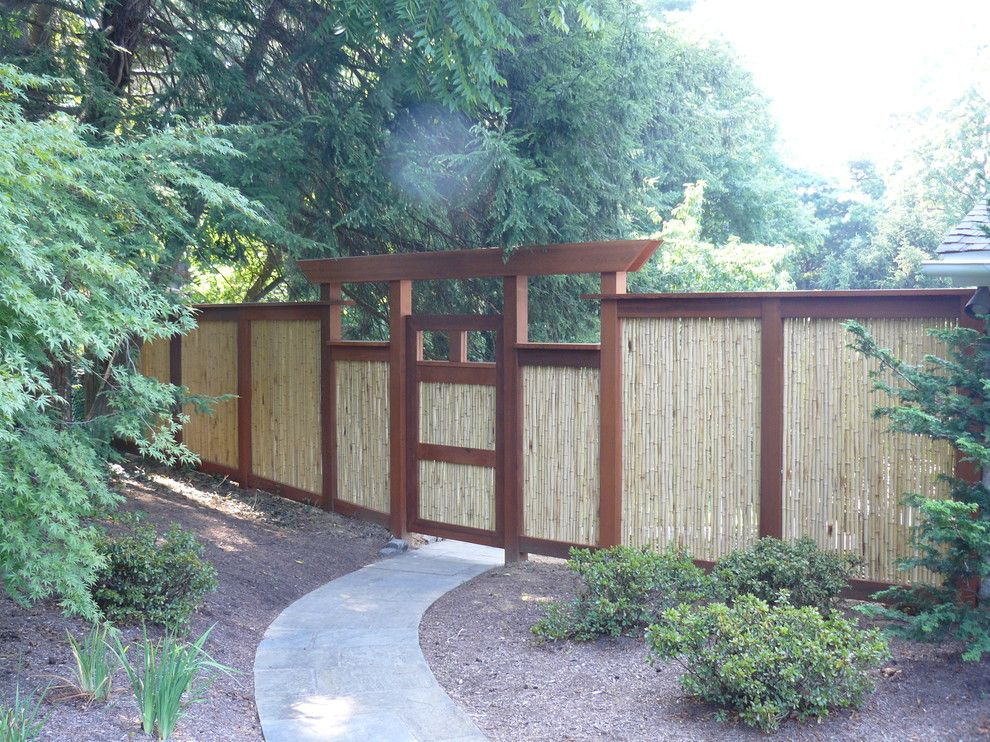 Bamboo Cutting Board Care for a Asian Landscape with a Asian and Asian Inspired Fence by Garrett Churchill Inc.