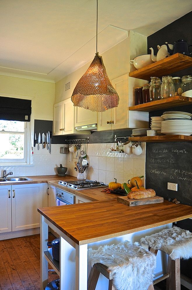 Bamboo Cutting Board Care for a Rustic Kitchen with a Window and Harriet Goodall by Luci.d Interiors