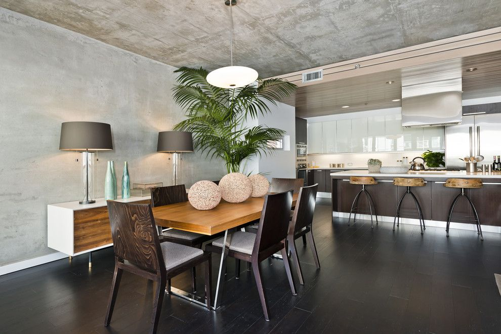 Bamboo Sherman Oaks for a Contemporary Dining Room with a Black Flooring and Bamboo Flooring by Plyboo