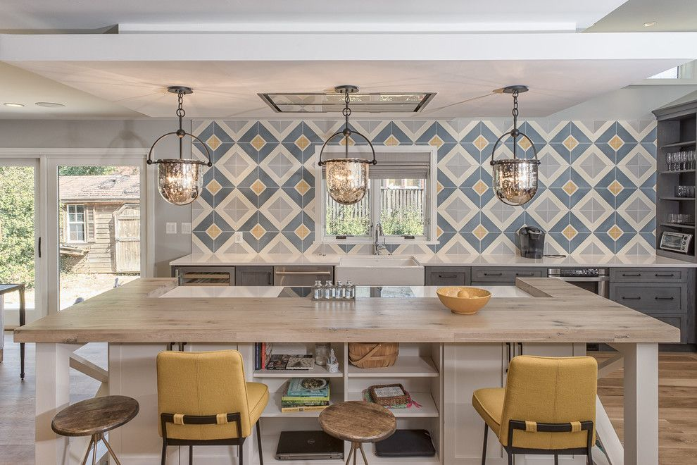 Bamboo Sherman Oaks for a Farmhouse Kitchen with a Glass Soors and Modern Eclectic Farmhouse | Columbus St. by Sagatov Design Build