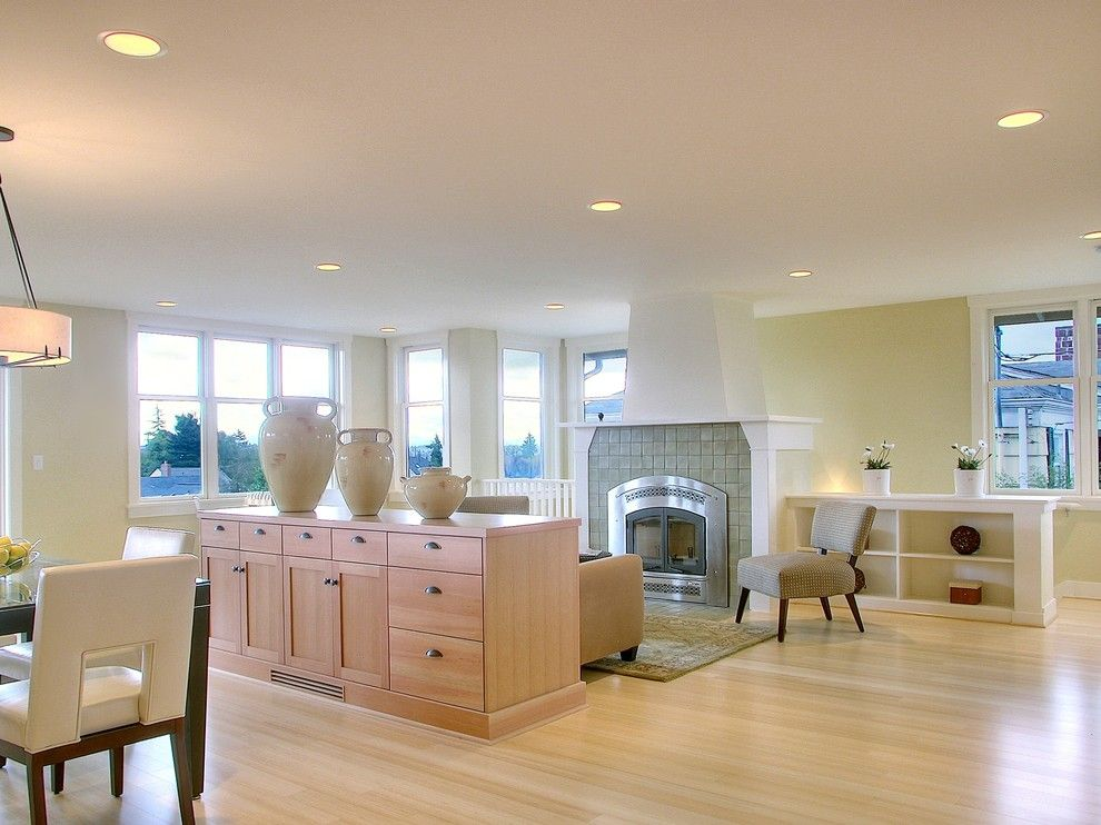 Bamboo Sherman Oaks for a Traditional Living Room with a Built Ins and Crown Hill Remodel by Neiman Taber Architects