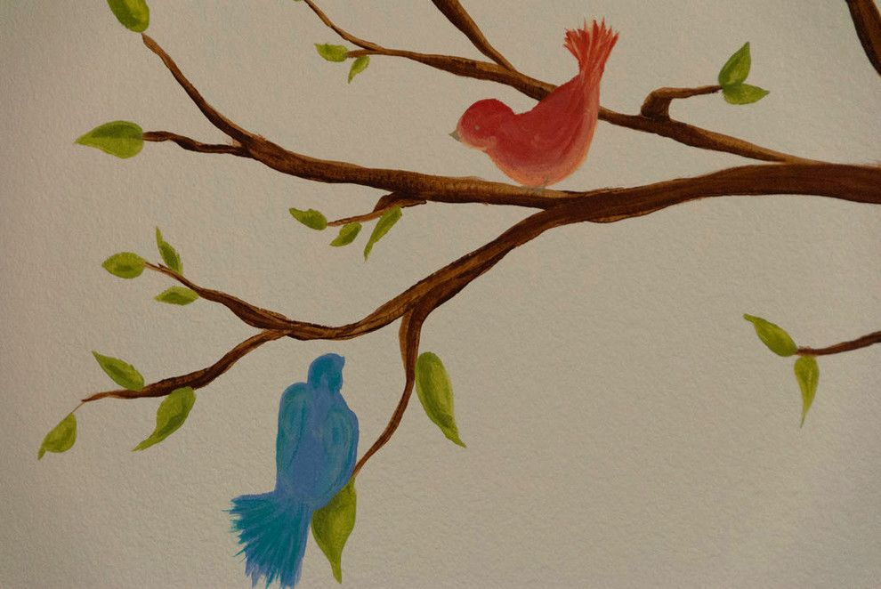 Banana Leaf Dallas for a  Kids with a Leaf and Lovebirds Nursery by Banana, Ink.  a Creative Studio