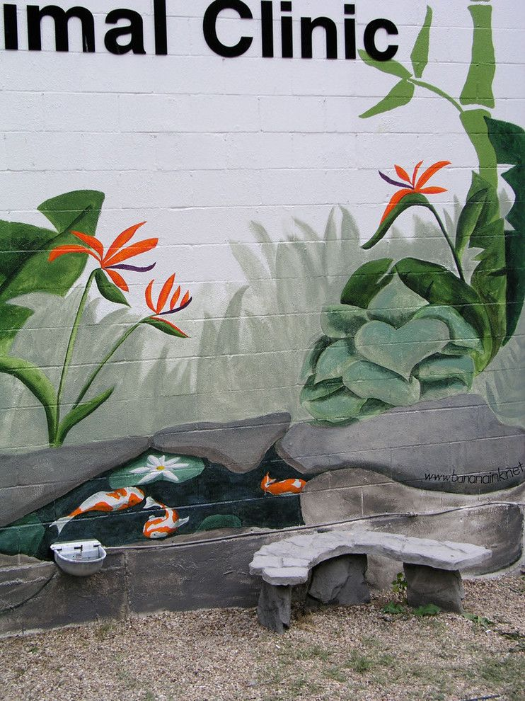 Banana Leaf Dallas for a  Landscape with a Mural and Canine Oasis by Banana, Ink.  a Creative Studio