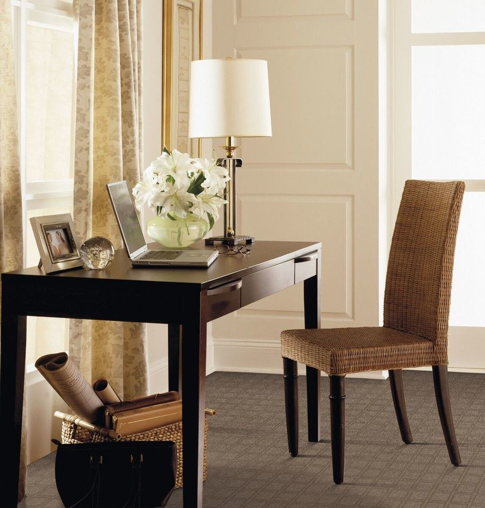 Banana Leaf Dallas for a Traditional Home Office with a Flooring and Home Office by Carpet One Floor & Home