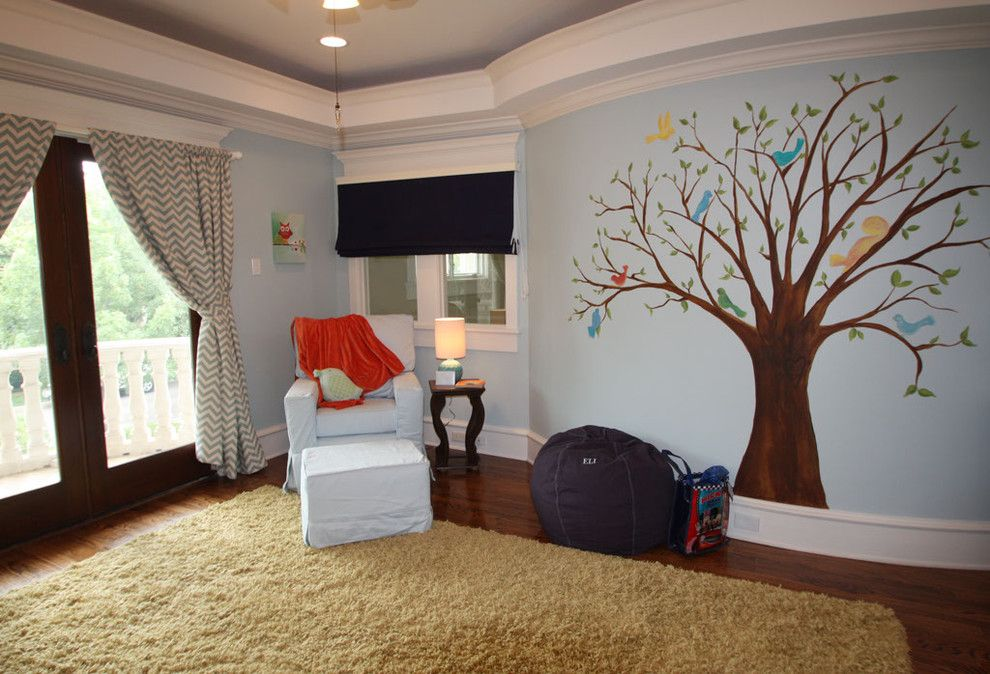 Banana Leaf Dallas for a Traditional Kids with a Bird and Lovebirds Nursery by Banana, Ink.  a Creative Studio