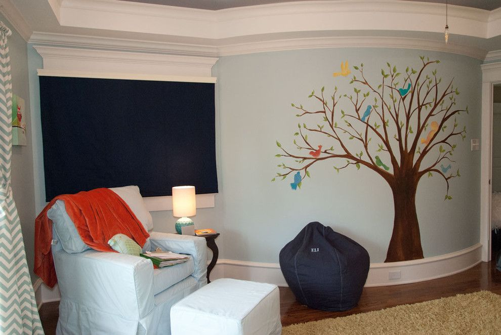 Banana Leaf Dallas for a Traditional Kids with a Hand Painted and Lovebirds Nursery by Banana, Ink.  a Creative Studio