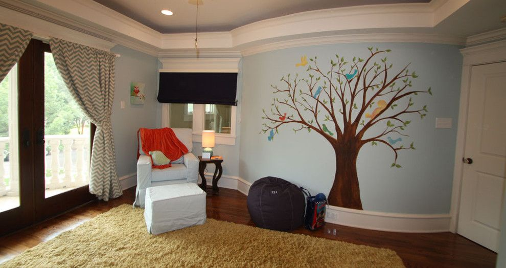Banana Leaf Dallas for a Traditional Kids with a Squirrel and Lovebirds Nursery by Banana, Ink.  a Creative Studio