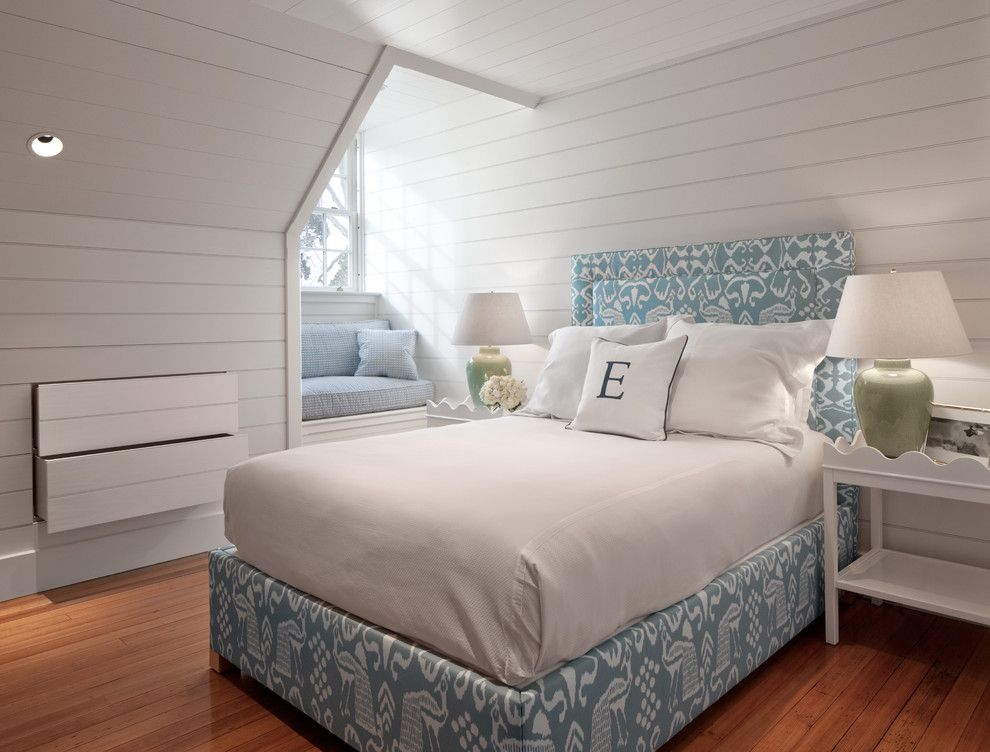 Banc Home Loans for a Beach Style Bedroom with a White Bedding and Carriage House by Kim Kirby Interior Design