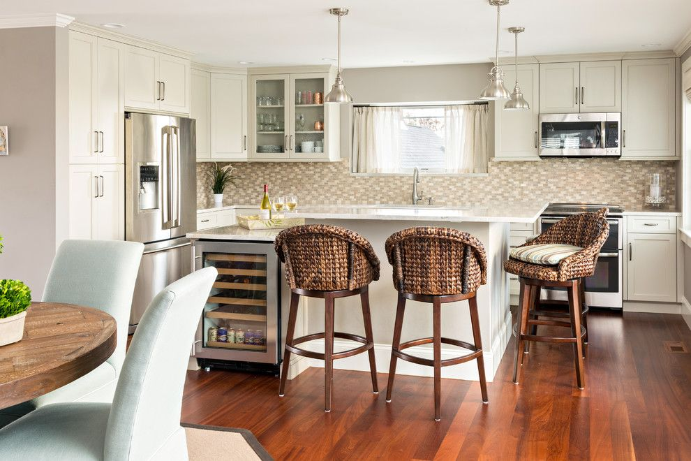 Banc Home Loans for a Beach Style Kitchen with a Matchstick Backsplash and Northside Bayview Cape by Reef Cape Cod's Home Builder
