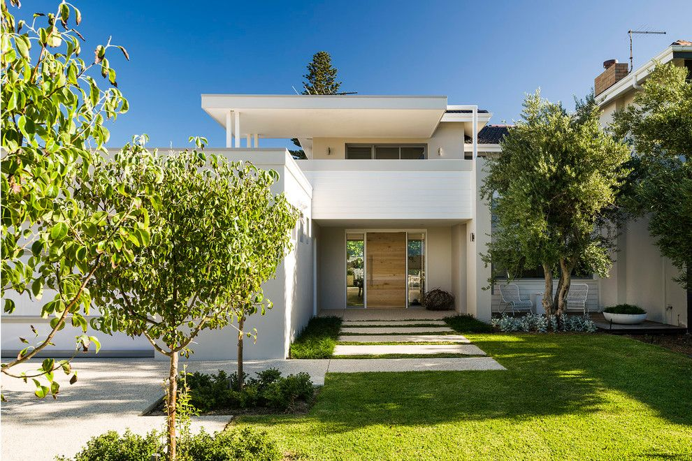 Banc Home Loans for a Modern Exterior with a Path and Ozone by Swell Homes