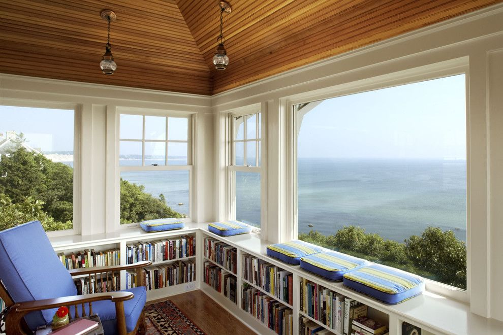 Banc Home Loans for a Traditional Home Office with a Window Seat and Seabend by Albert, Righter & Tittmann Architects, Inc.