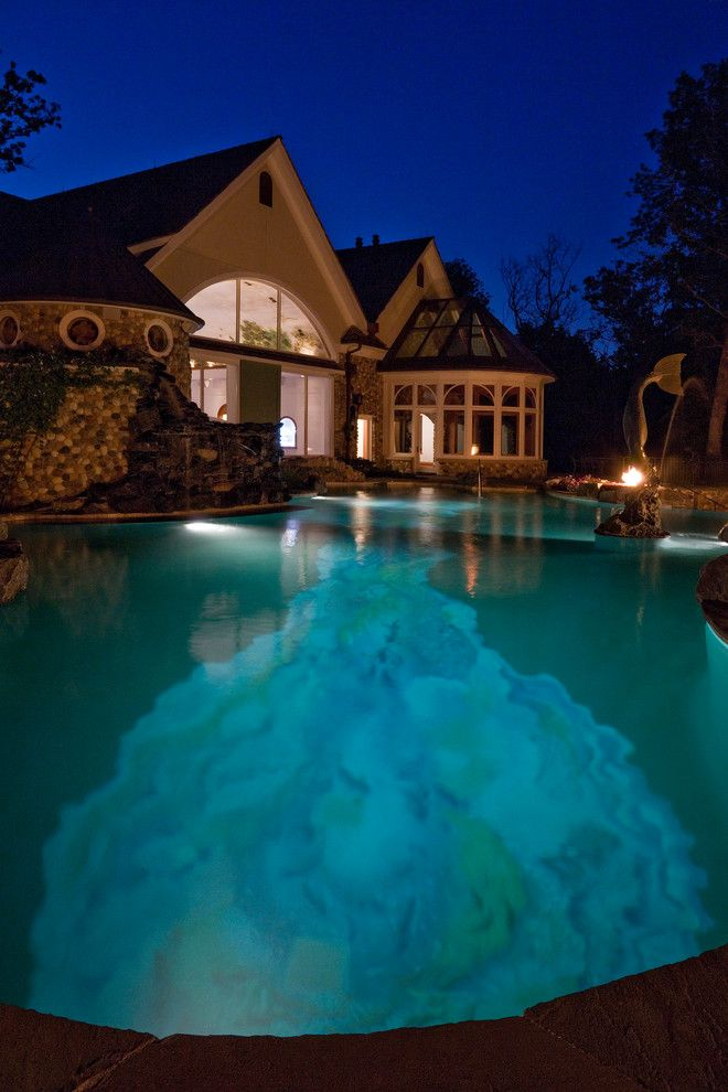Barrington Estates for a Mediterranean Pool with a Estate Swimming Pool and Barrington Hills Indoor/outdoor Estate Project by Platinum Poolcare