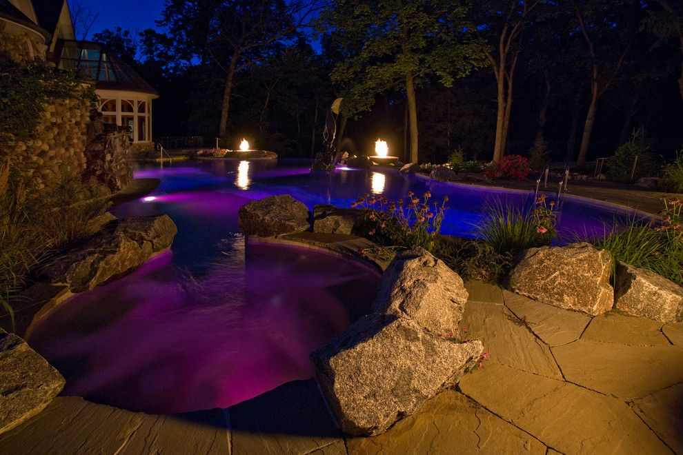 Barrington Estates for a Mediterranean Pool with a Luxury Swimming Pool and Barrington Hills Indoor/outdoor Estate Project by Platinum Poolcare